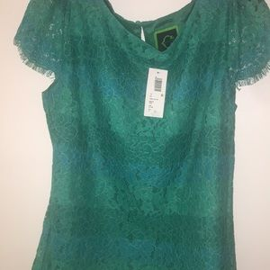 C-wonder lace blouse Top in muti green color